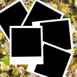 Autumn photo frames — Stock Photo