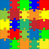Colorful puzzle — Stockvektor