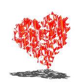 Abstract vector heart — Stock Vector