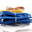 Network cables and drivers — Stock Photo