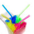 Colorful straws in the box - Stock Photo