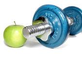 Halter en groene appel — Stockfoto