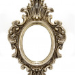 Stock Photo: Old oval frame