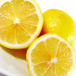 Close up of sliced lemon — Stock Photo