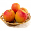 Apricots in punnet — Stock Photo