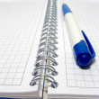 Close up of pencil on the open note book — Stock Photo