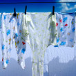 Royalty-Free Stock Photo: Baby clothes drying