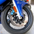 Motorcycle wheel — Stock fotografie