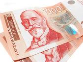 Serbian bills — Stock Photo