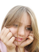 Conceived teenage girl — Stock Photo