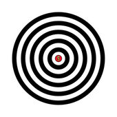 Vector target with dollar in the center — Stockvektor