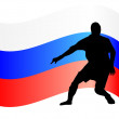 Russian footballer — Stockvectorbeeld
