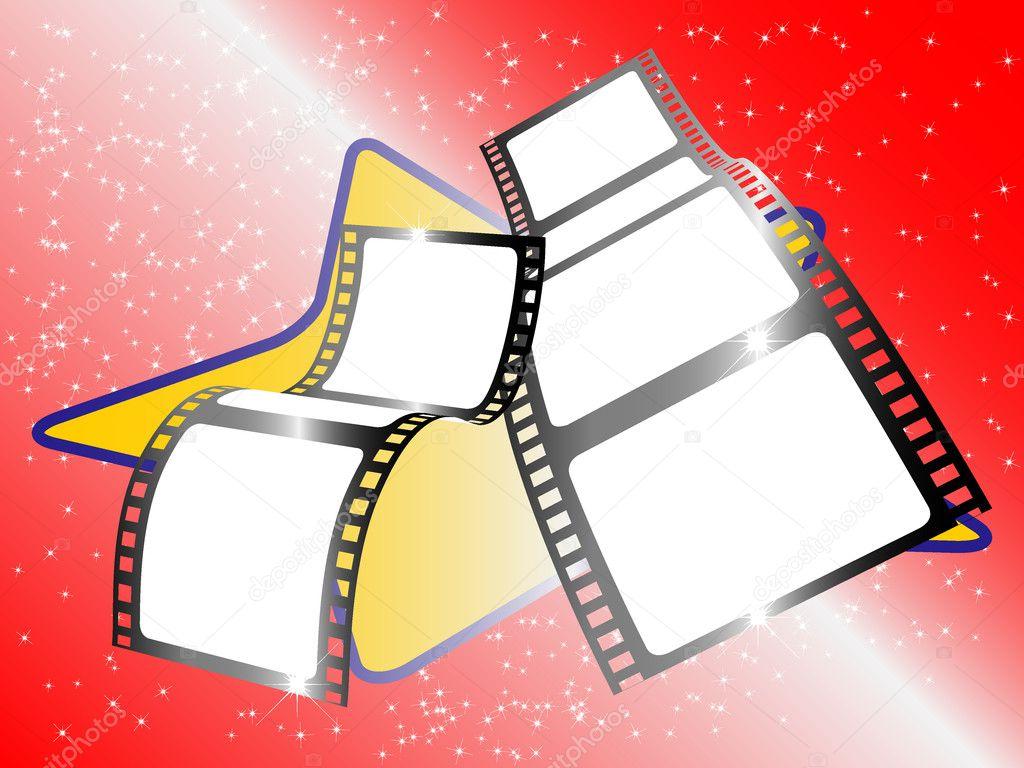 两个电影胶片磁带