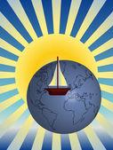 Around the world — Stock Vector