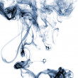 Blue colored smoke — Stock Photo