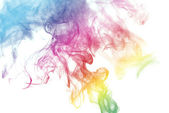 Rainbow Colored Smoke — Stock Photo