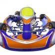 Karting racing car — Stock Photo
