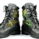 Military combat boots — Stock Photo