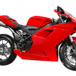 Fast red motorcycle — Stock Photo #1662588