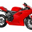 Stock Photo: Fast red motorcycle