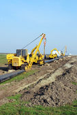 Gas pipe construction site — Stock Photo