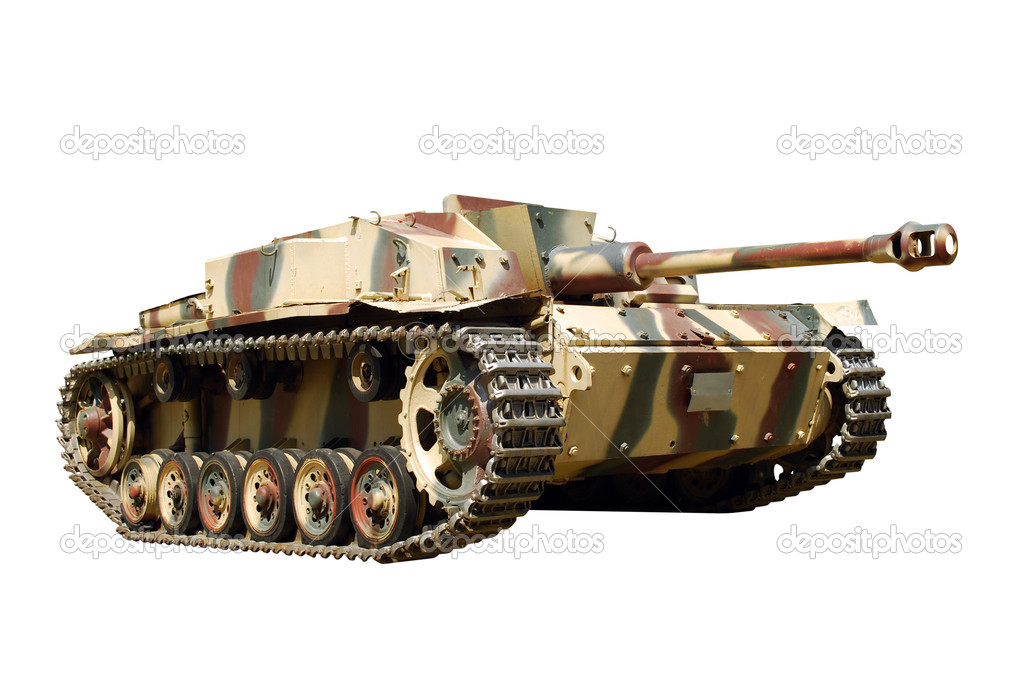 Germany tank from WWII isolated — Stock Photo #1663027
