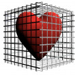 Royalty-Free Stock Photo: Heart in cage