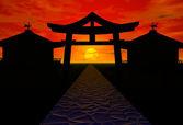 Japan landscape — Stock Photo
