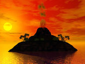 Volcano island — Stock Photo