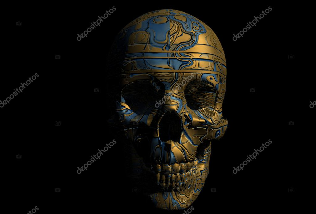 Cyborg skull illustration  Stock Photo #1693594