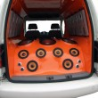 Car with power audio system - Stock Photo