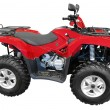 Red atv - Stock Photo