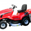 Red lawn-mower — Stock Photo