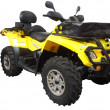 Stock Photo: Yellow 4x4 atv