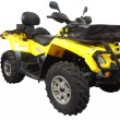 Yellow 4x4 atv - Stock Photo