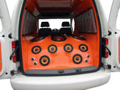 Car with power audio system — Stock Photo