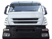 Front of white truck isolated — Stock Photo