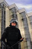 Policía antidisturbios — Foto de Stock