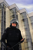 Riot policeman — Stockfoto