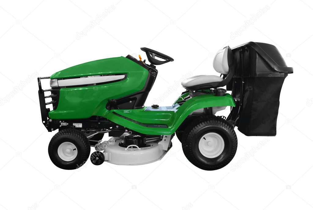 Green lawn-mower isolated — Stock Photo #1705232