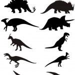 Dinosaur silhouette — Stock Vector