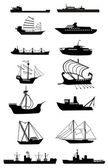 Ship silhouette — Stock Vector