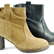Short leather boots — Stock Photo