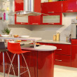Stock Photo: Red kitchen