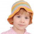 Little girl with colorful hat — Stock Photo