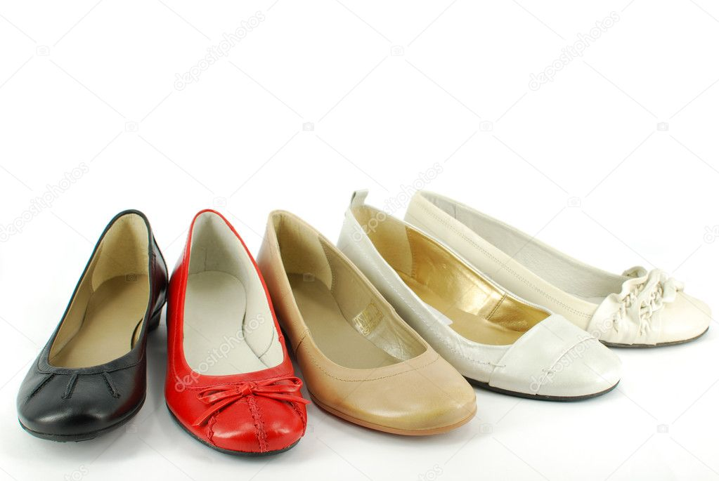 Different woman ballet flat shoes  — 图库照片 #2539895