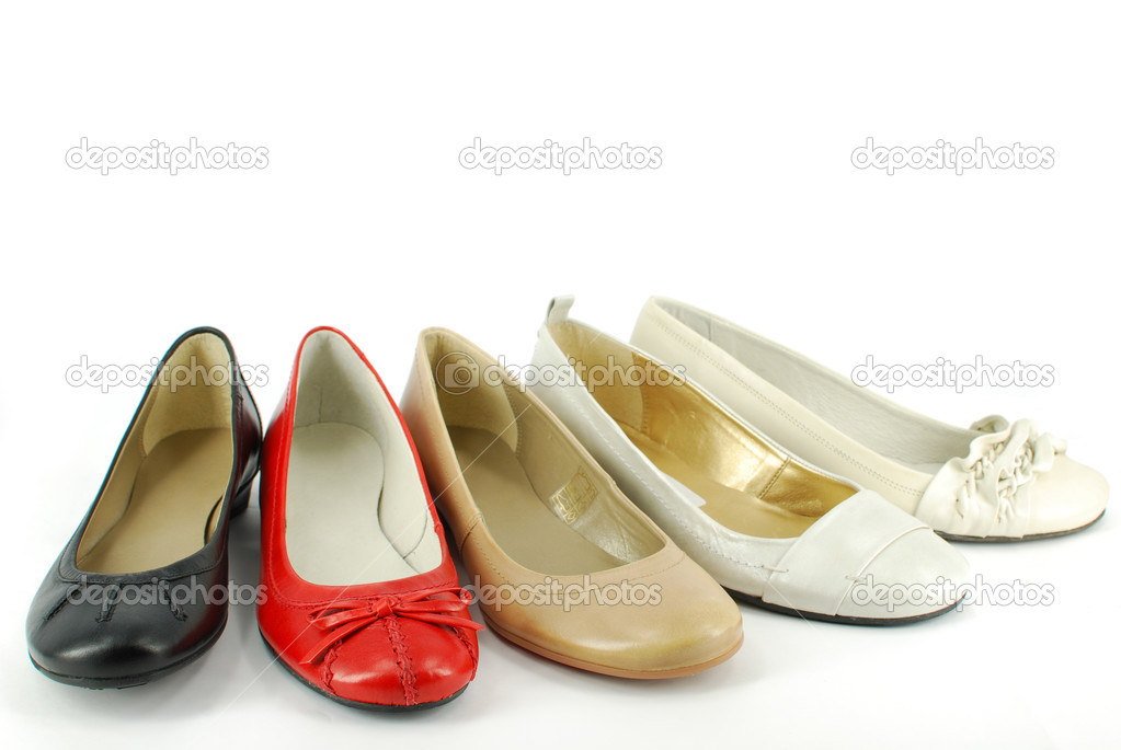 Different woman ballet flat shoes  — Zdjęcie stockowe #2539895