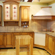 Wooden kitchen — Stock Photo
