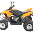 Stock Photo: Orange atv isolated