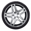 Car wheel with aluminum rim — Stockfoto